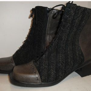 NAOT leather gladiator lace up boots size 38